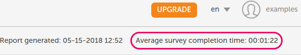 average survey time