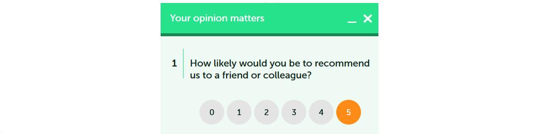 widget z ankietą